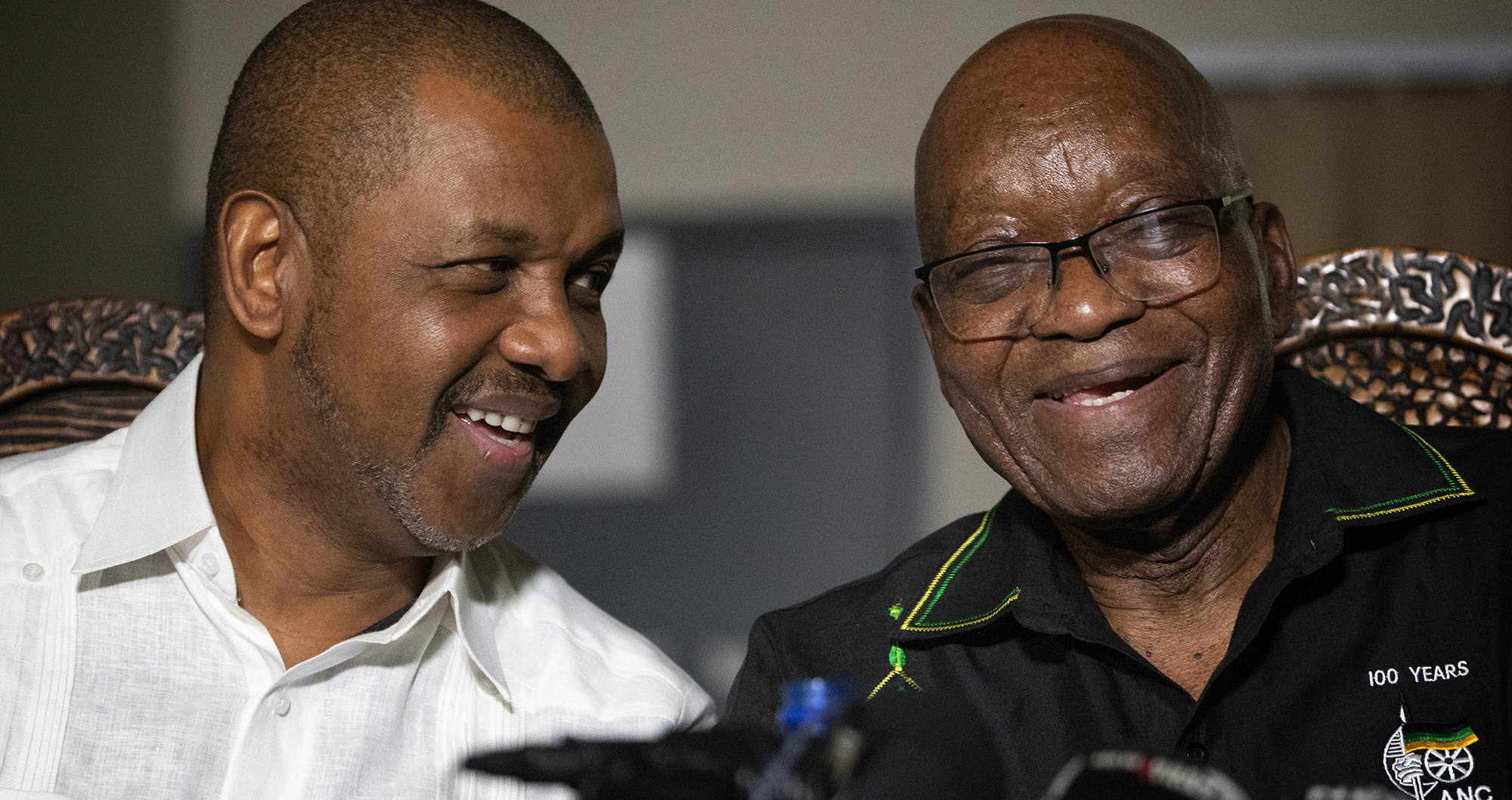 DM168 TONGUE IN CHEEK: Mysterious Zuma takes it lying down