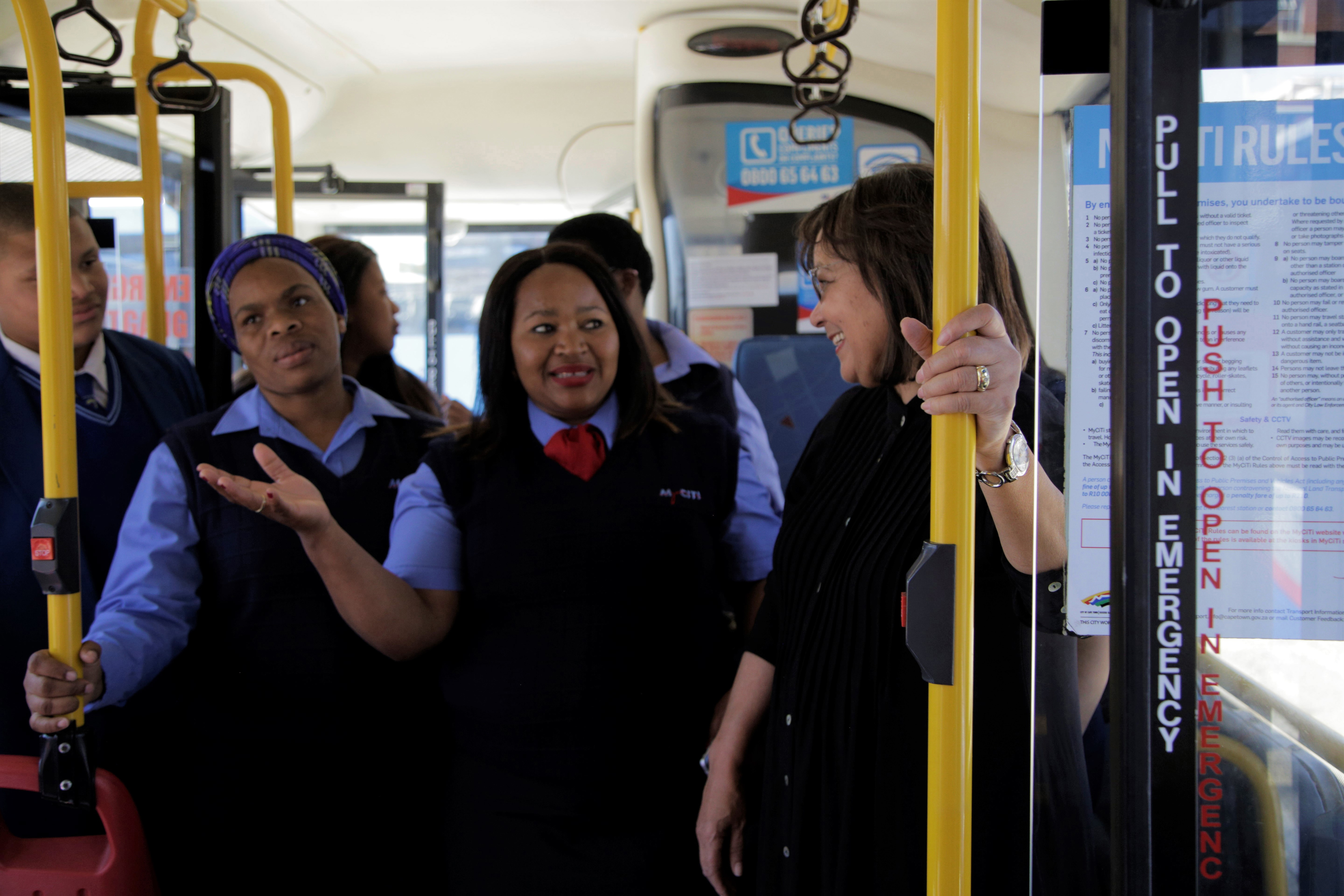 Women take the wheel to shatter the transport glass cei