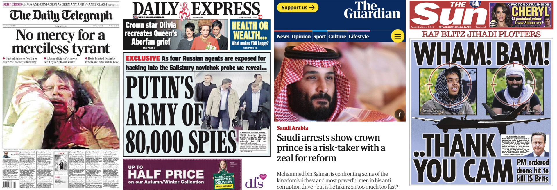 DECLASSIFIED UK : How the UK press is misinforming the public about Britain's role in the world (Part One)