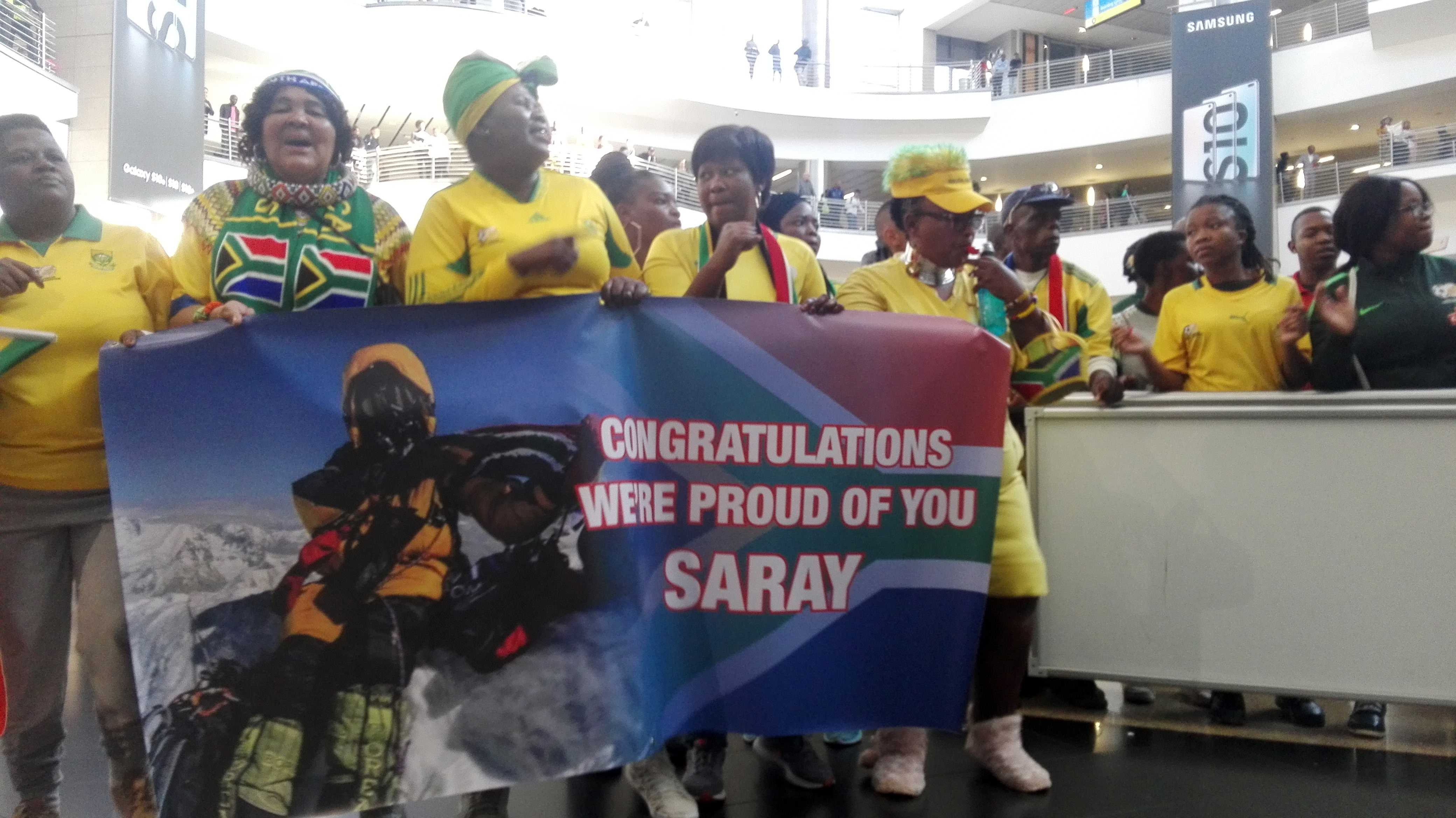After making history, mountaineer Saray Khumalo receive