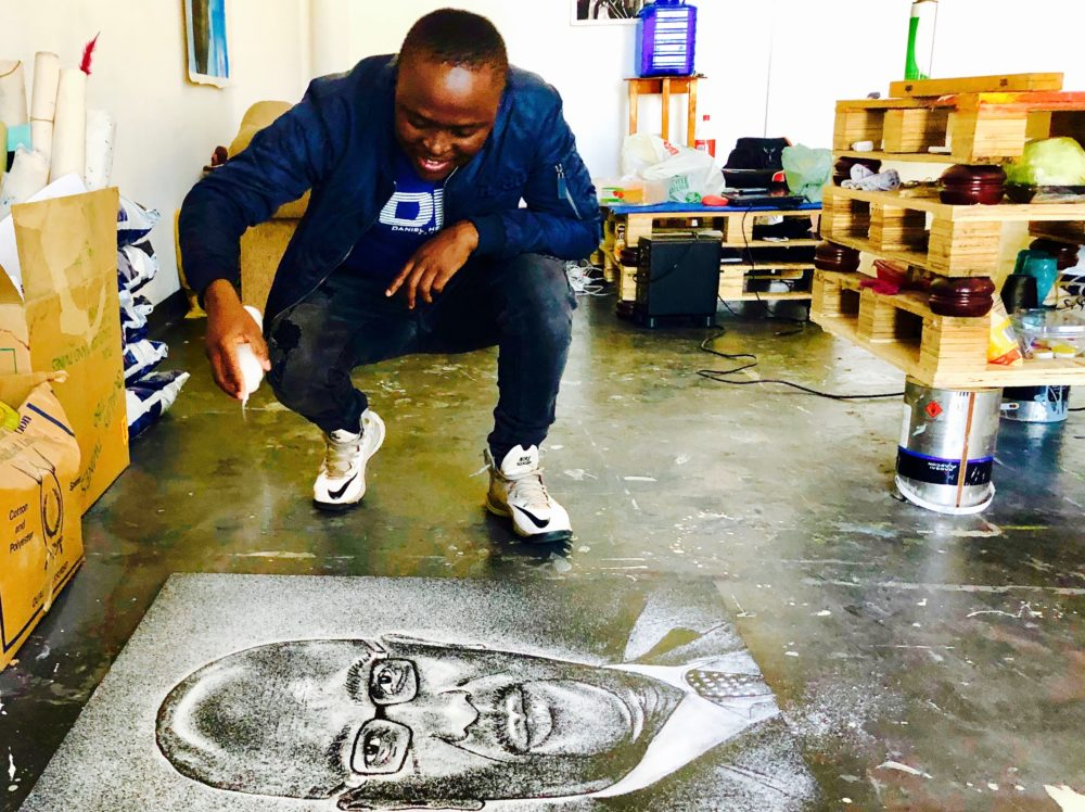 ART: Percy Maimela: the artist who draws portraits in salt