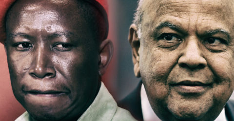 Gordhan vs Malema: Gordhan calls a halt to racist attacks, threats to family, lays charges against Malema and Shivambu