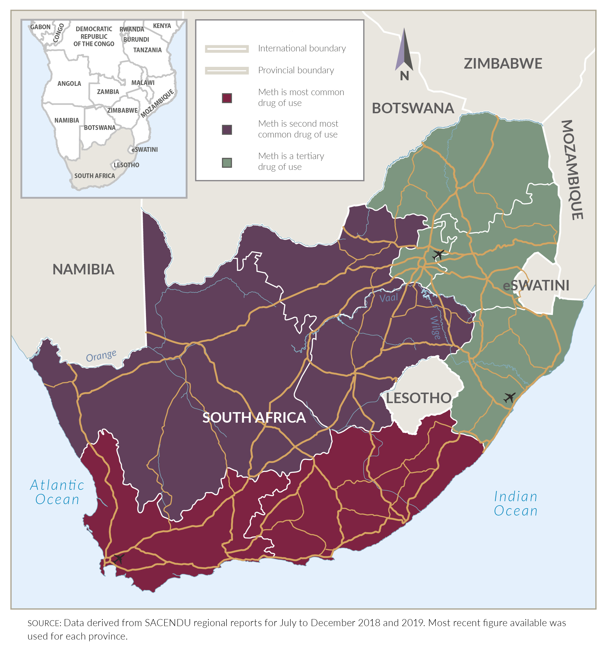meth use in South Africa