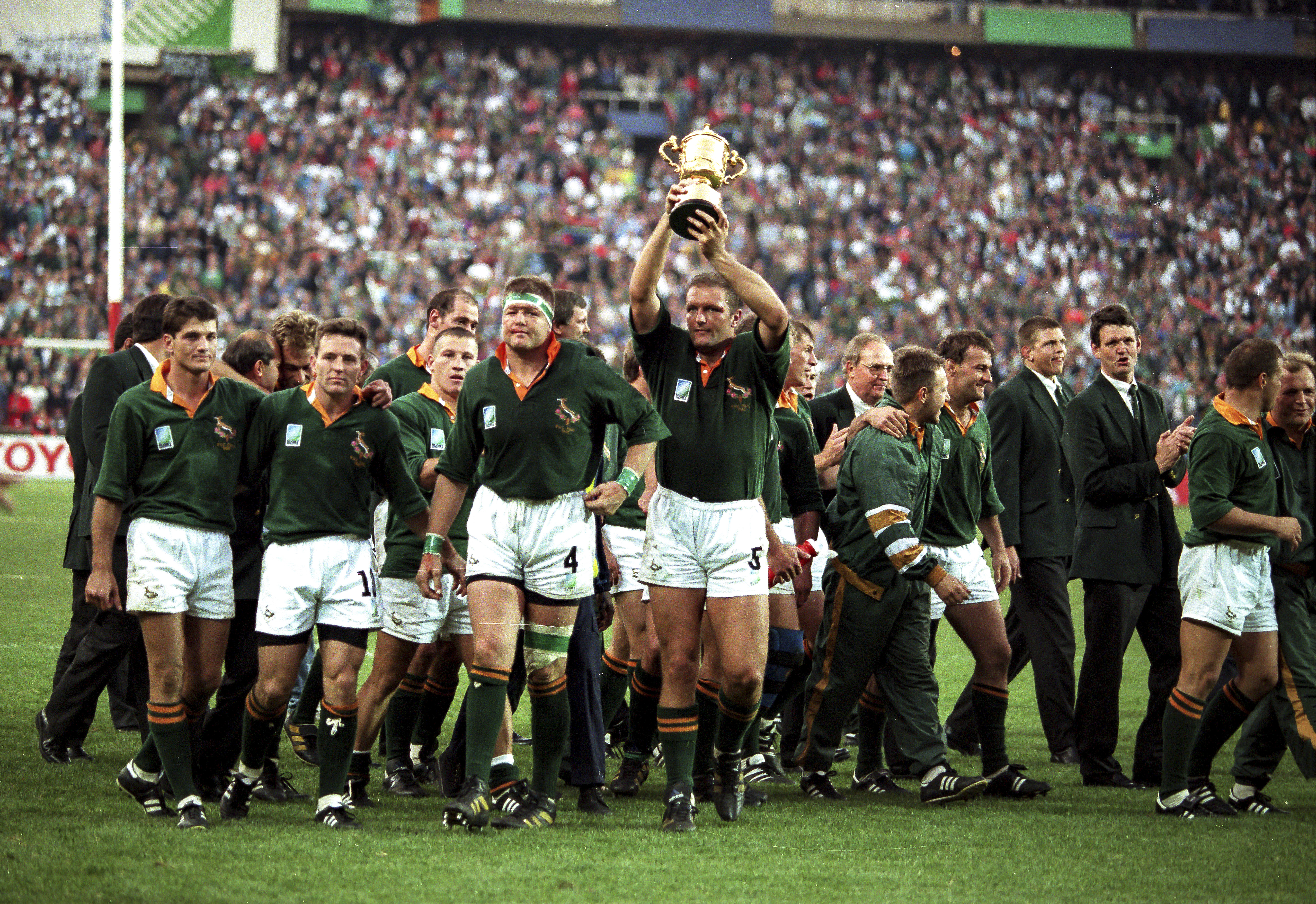 Rugby World Cup 1995 Madiba And Francois Pienaar Give