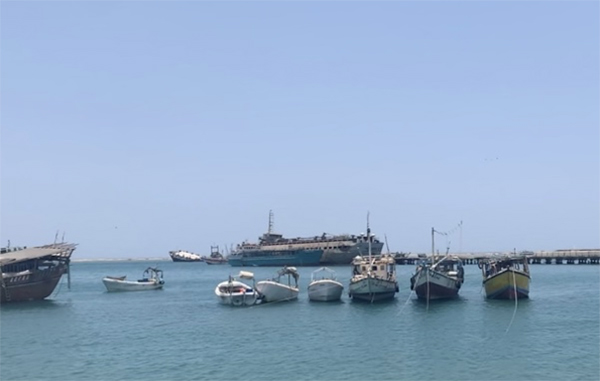 Part of the small fishing fleet at anchor in Berbera. The vessels, which are mostly between seven and 15 metres long, are too small to be commercially successful. Picture: Ray Hartley