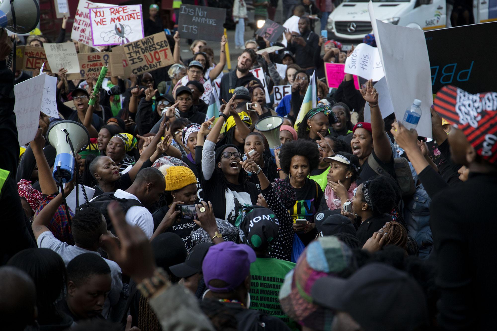 #SandtonShutdown: 'Stop killing us, stop raping us, stop murdering us'