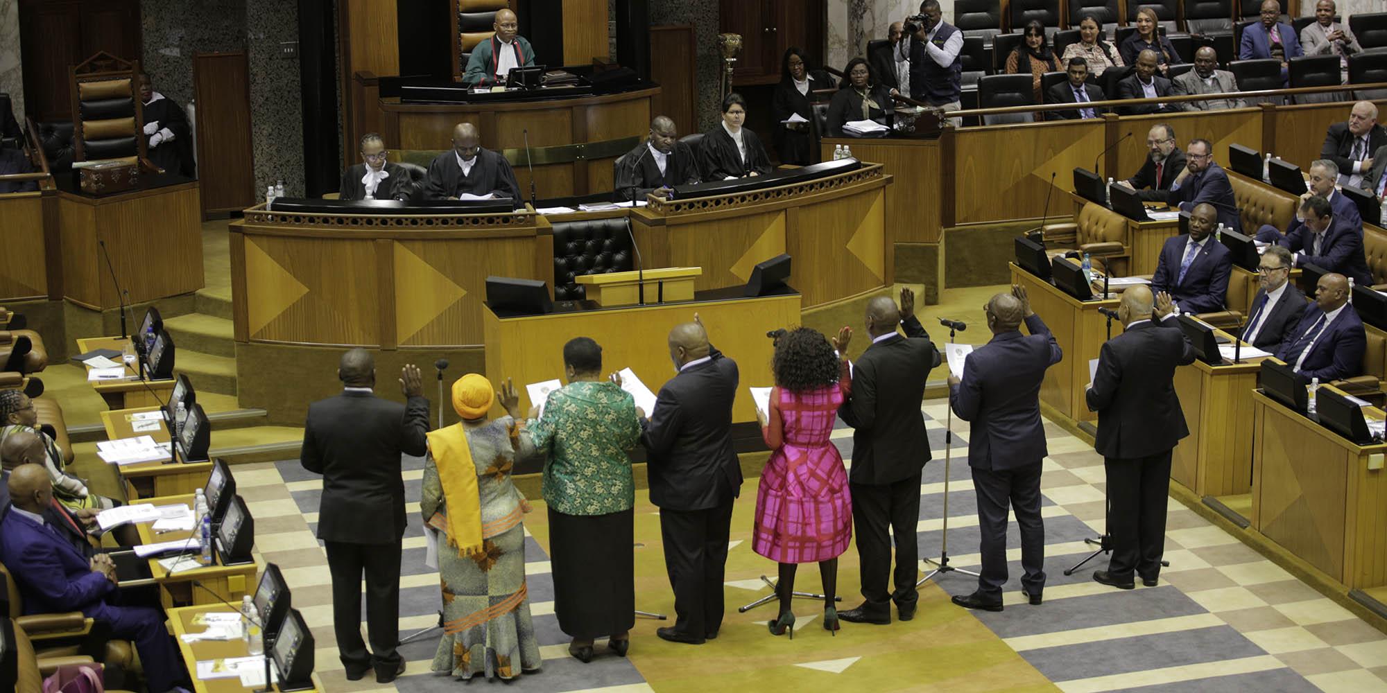 SA's 6th Parliament: High spirits, high energy as new MPs sworn in at Parliament