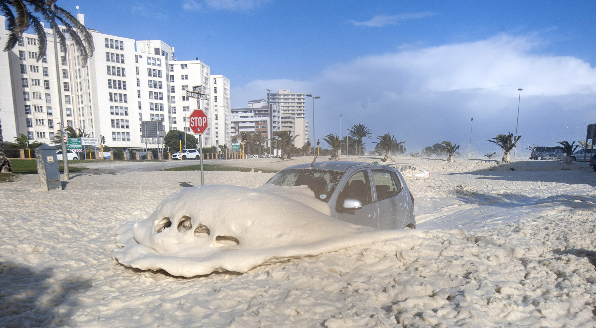 VISUAL ESSAY: Mean Monday: Another vicious winter storm surges through city of Cape Town