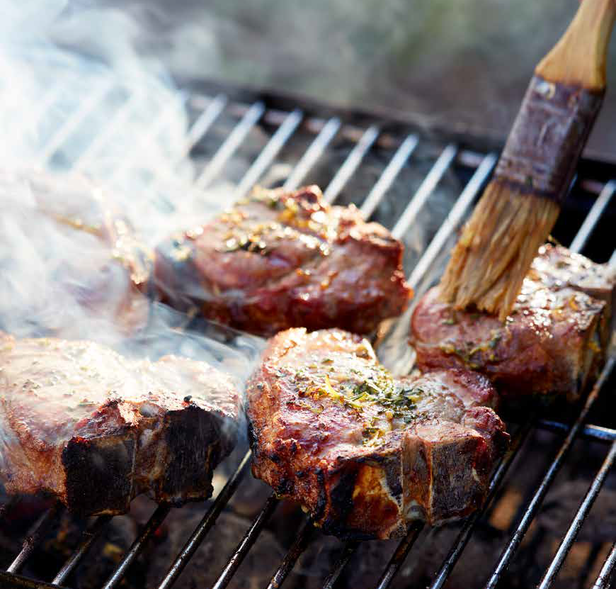 HERITAGE DAY COOKOUT #1: Heritage Day Lamb T-bones with garlic, lemon and rosemary butter