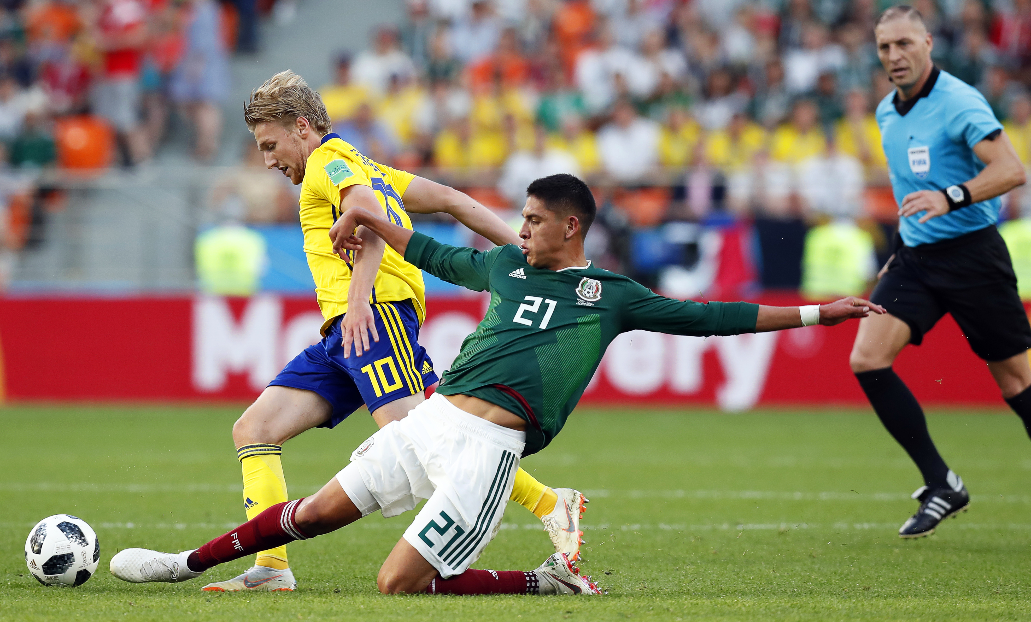259ca4f41d8 ... (C) of Mexico during the FIFA World Cup 2018 group F preliminary round  soccer match between Mexico and Sweden in Ekaterinburg