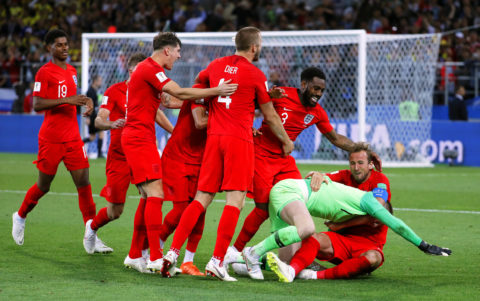 #Russia2018: In Pictures: England end penalty jinx to edge Colombia in shootout