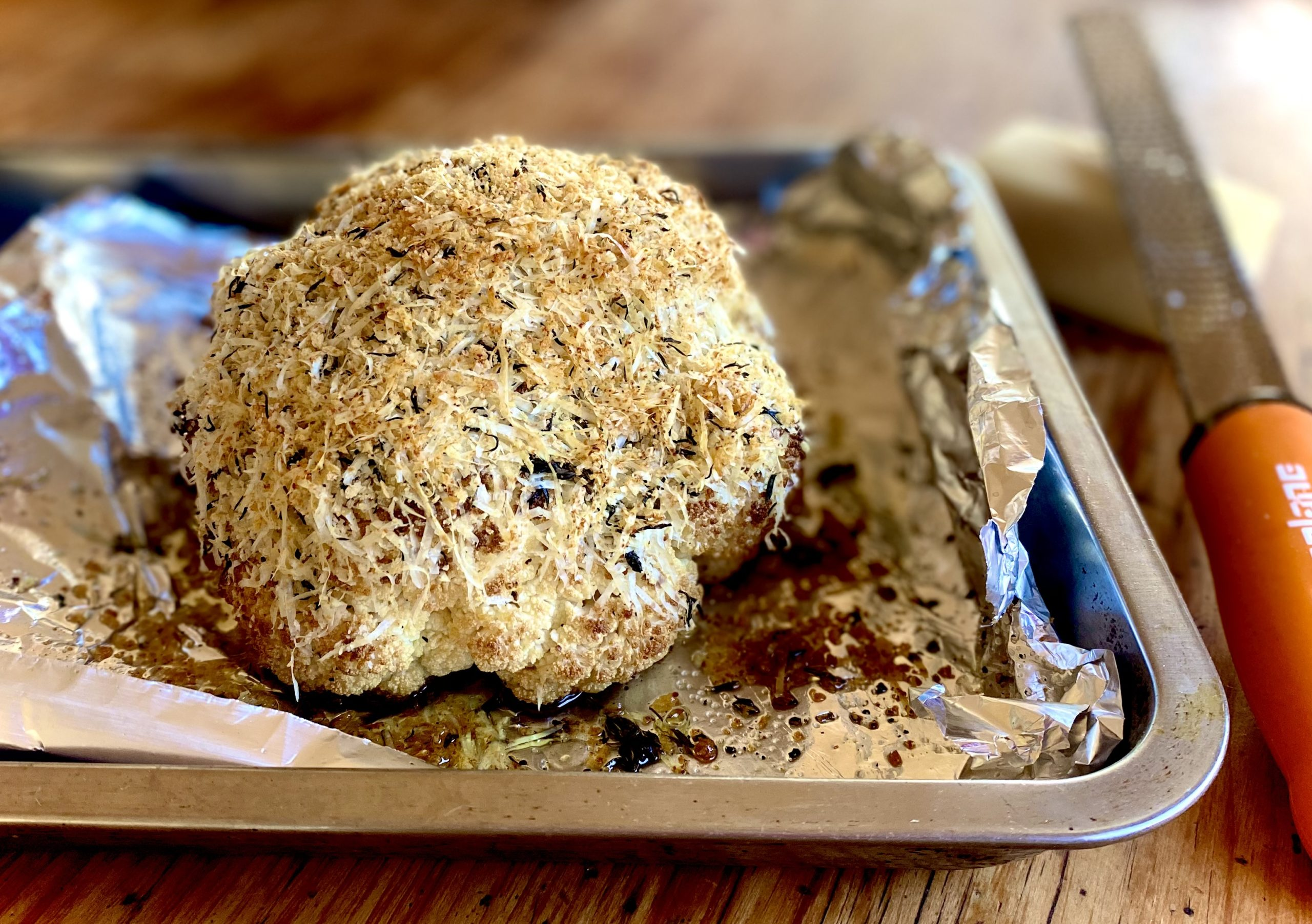 TGIFOOD: Lockdown Recipe of the Day: Roasted Cauliflower with a Panko-Parmesan crumb